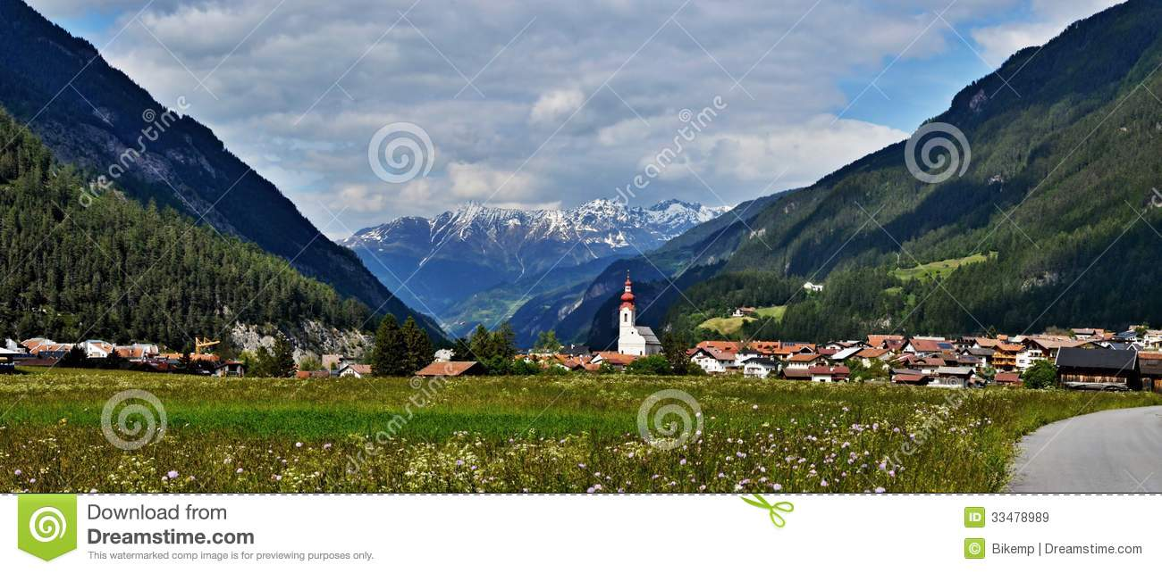 Pfunds Austria  City new picture : Austrian Alps panoramic View To City Pfunds Royalty Free Stock Images ...