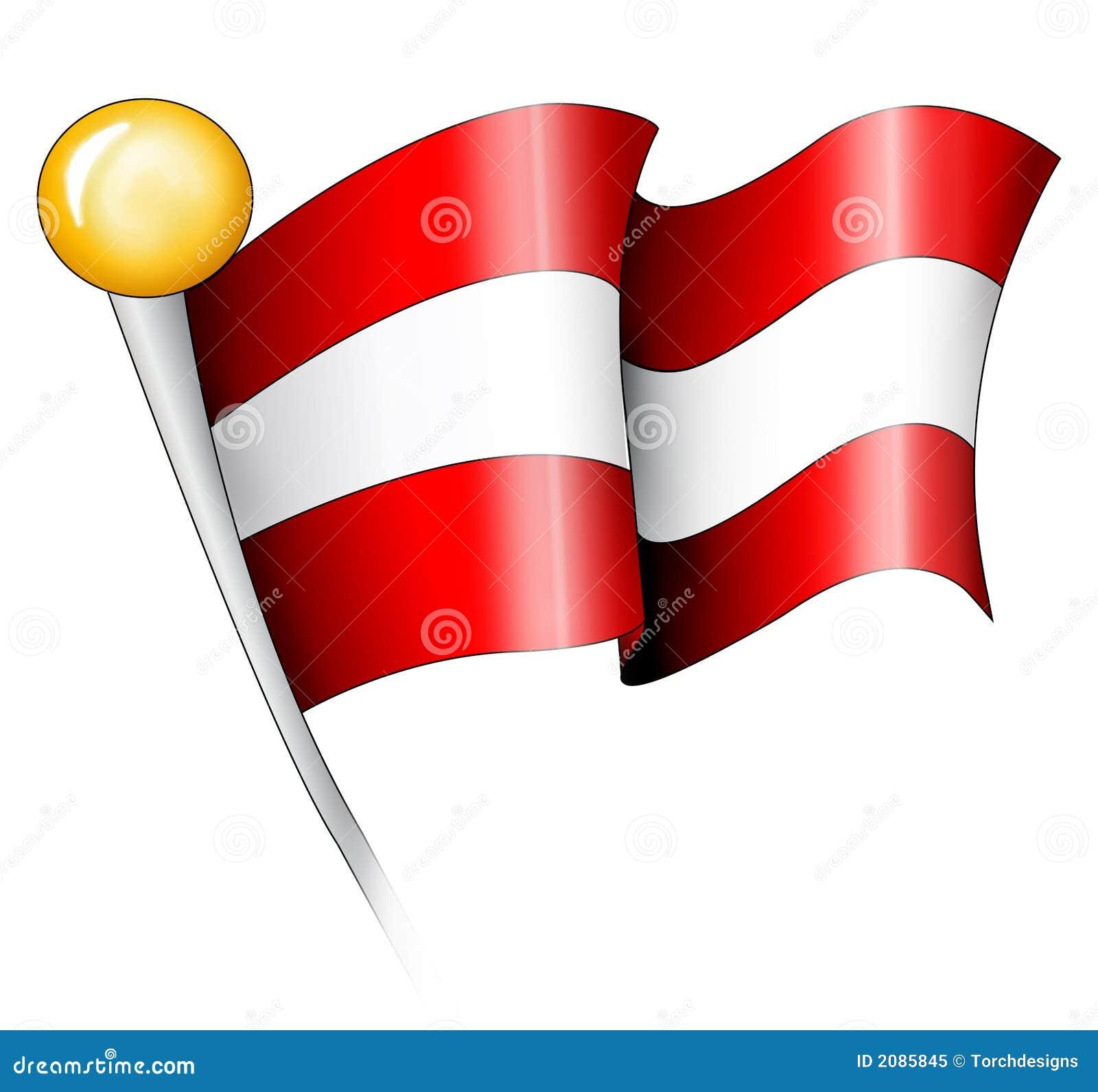 Austrian Flag Illustration Stock Illustration Image Of