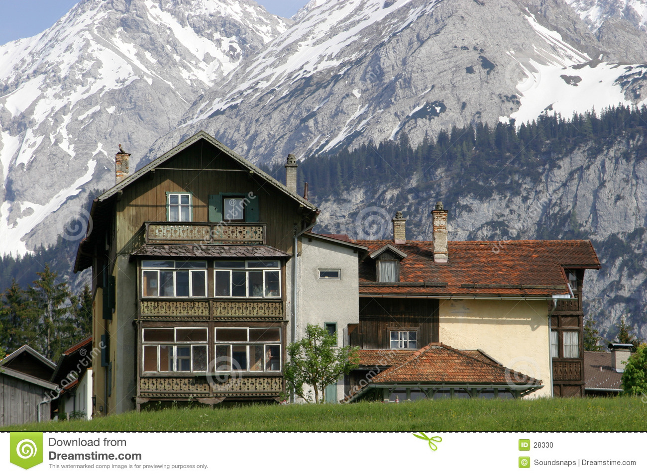 Austrian House In Mountains Stock Photo Image 28330