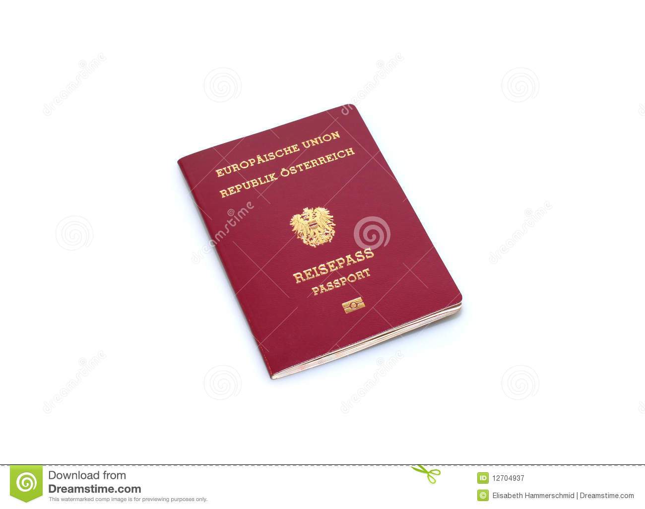Austrian Passport Royalty Free Stock Photography Image