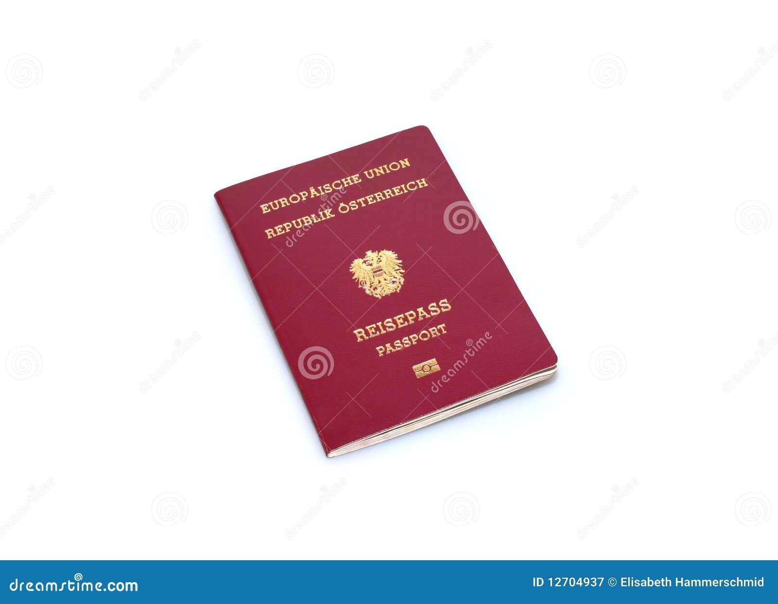 Austrian Passport Royalty Free Stock Photography - Image: 12704937