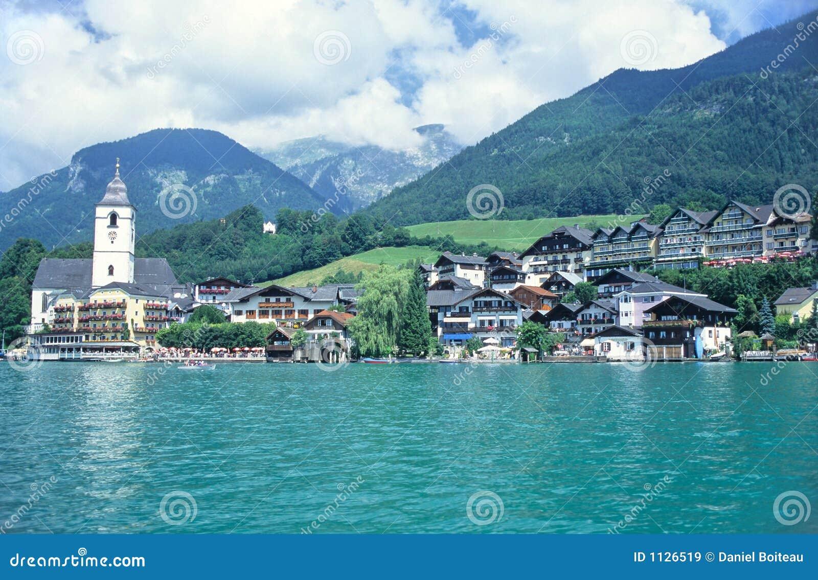 Download Austrian village stock image. Image of europe, mountain - 1126519