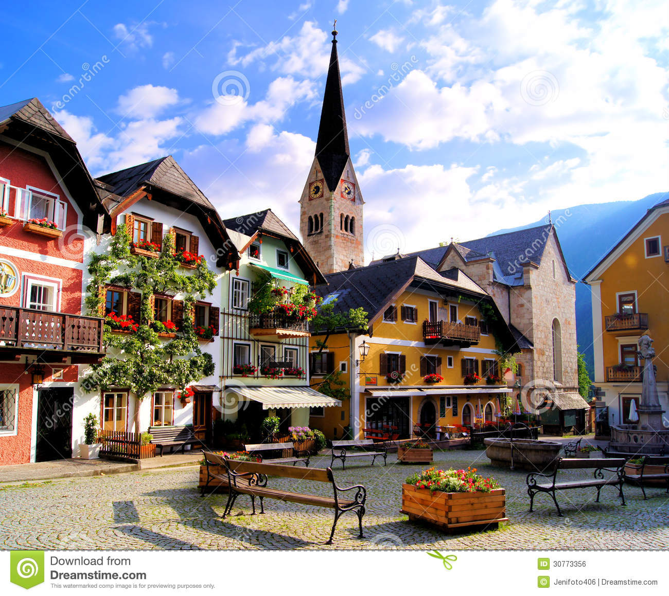 Austrian village royalty free stock image image 30773356 for Village town