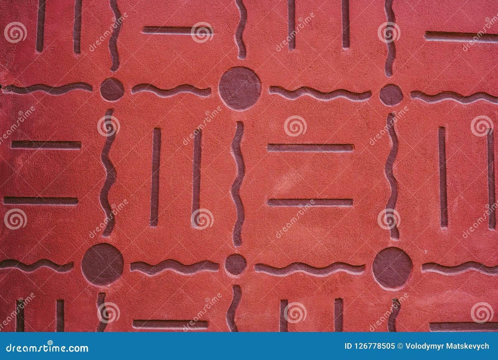 Auszug alte Backsteinmauer Geometrische Verzierung auf einem alten Papier