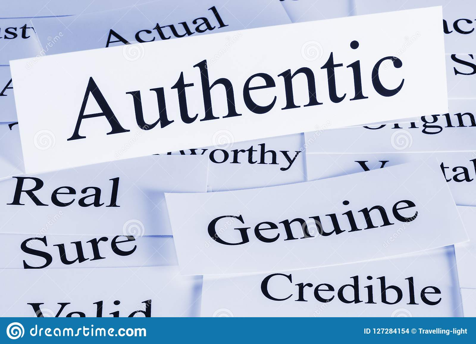 Authentic Concept in Words stock photo. Image of word
