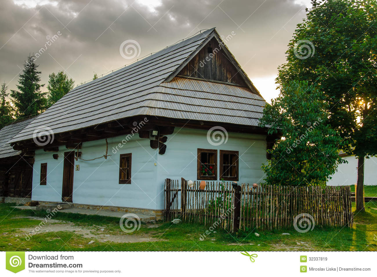 Authentic Folk House in a Museum of Slovak Traditions