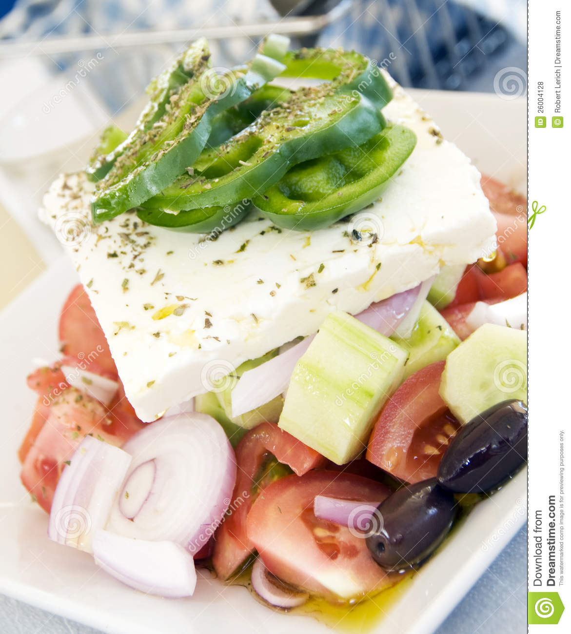 Authentic Greek salad feta cheese