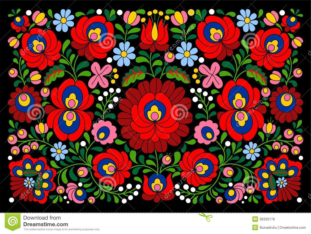Authentic Hungarian Pattern Royalty Free Stock Image - Image: 36332176