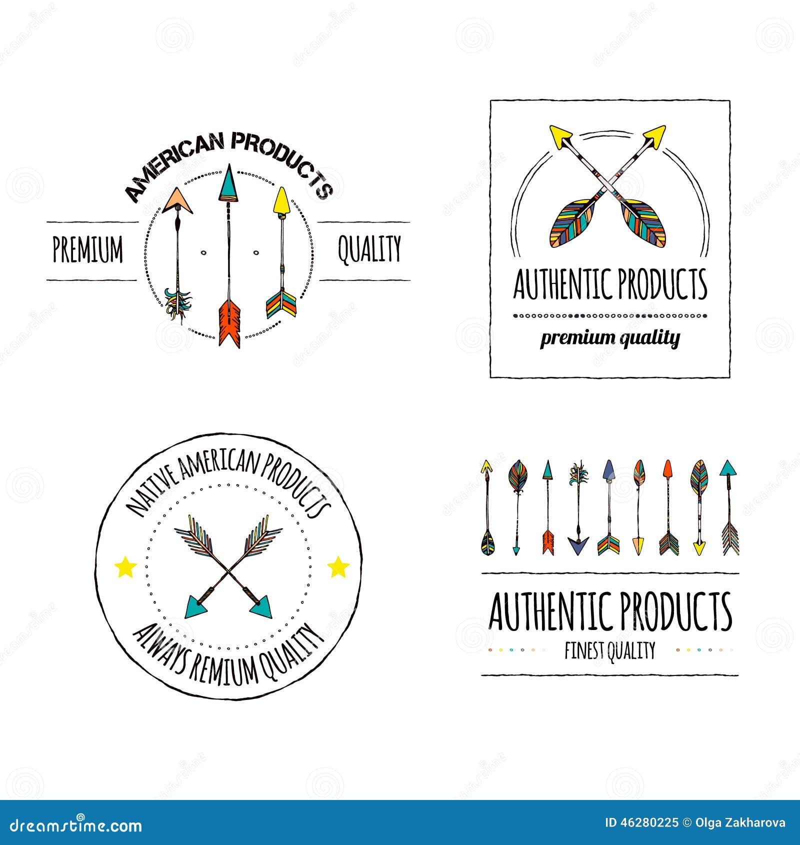 Authentic Logos Stock Illustration