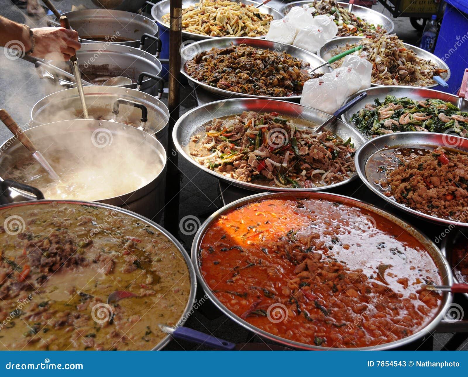 Authentic street food bangkok thailand stock image for Cuisine bangkok