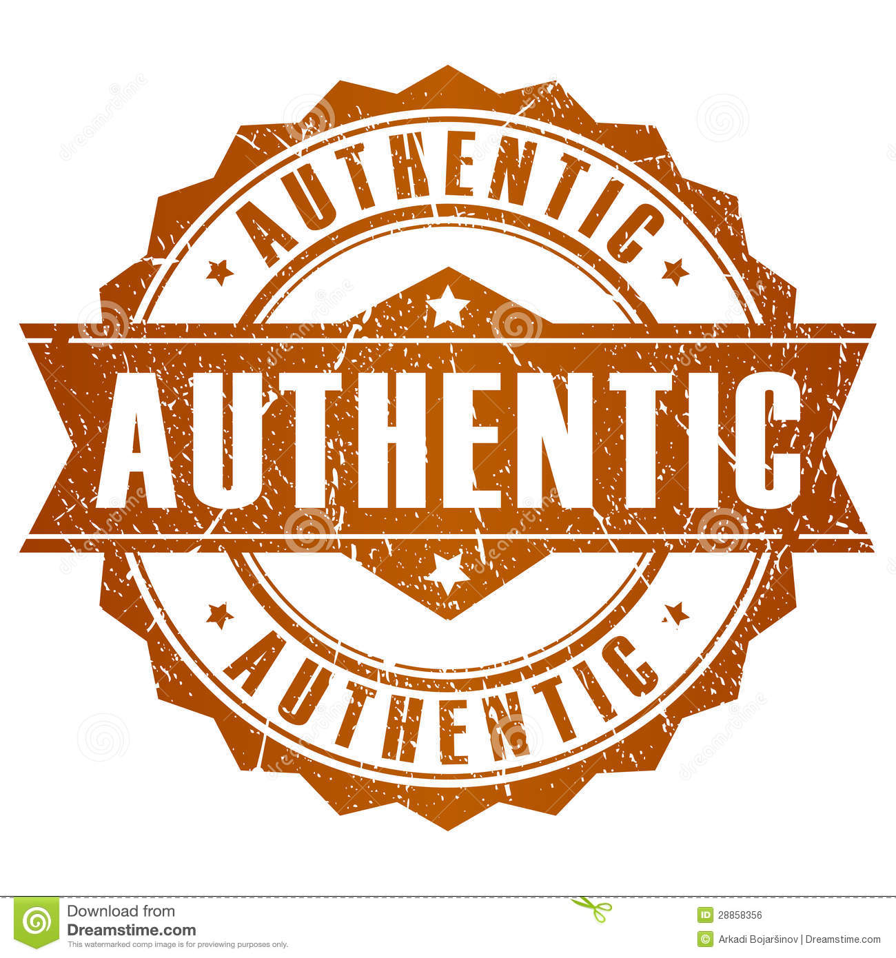 Authentic Vector Stamp Royalty Free Stock Image - Image