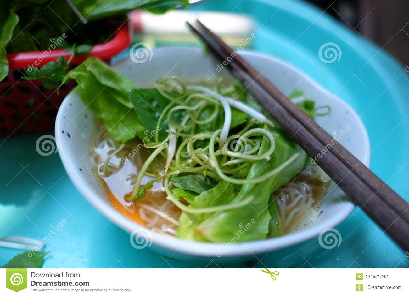 Authentic Vietnamese Street Food Pho Stock Photo - Image of