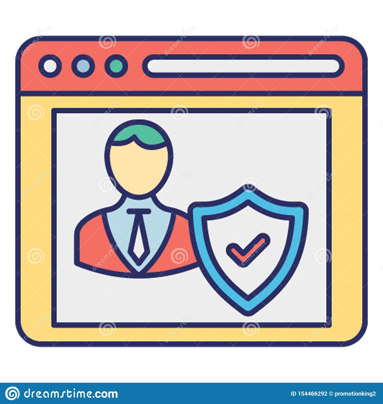 Authentication, Password Protected Vector Icon Which Can