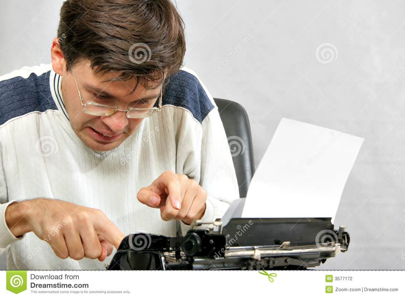 Author Typing His Bestseller Stock Photo Image Of Author