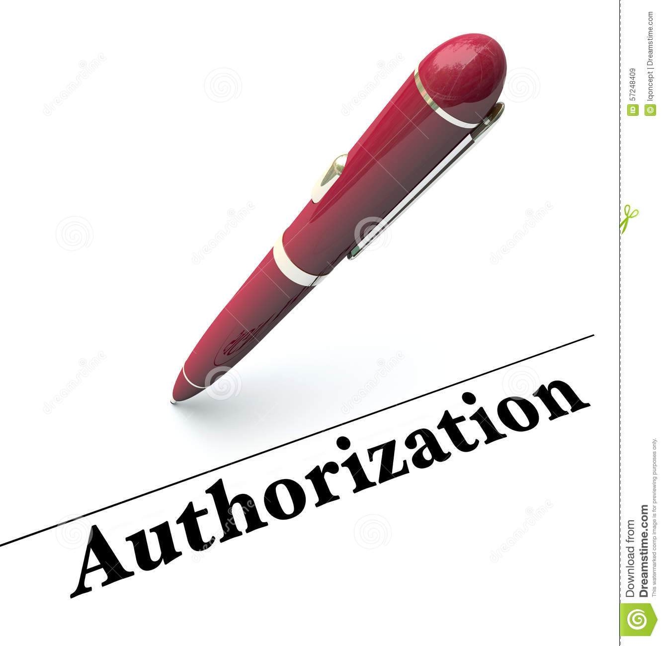 Authorization Pen Signing Approval Official Authority ...