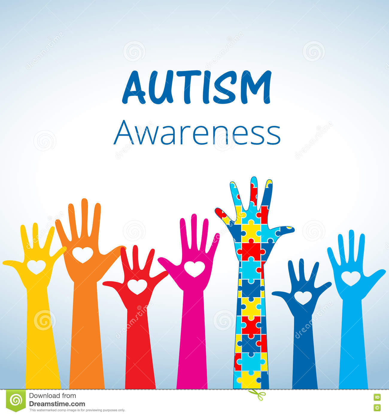 Autism awareness concept with hand of puzzle pieces stock vector autism awareness concept with hand of puzzle pieces different health biocorpaavc Gallery
