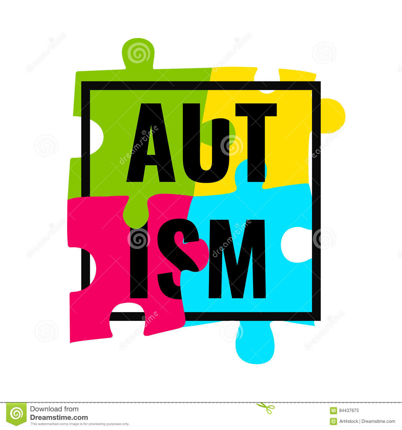 Autism awareness frame poster stock vector illustration of autism awareness frame poster biocorpaavc Gallery