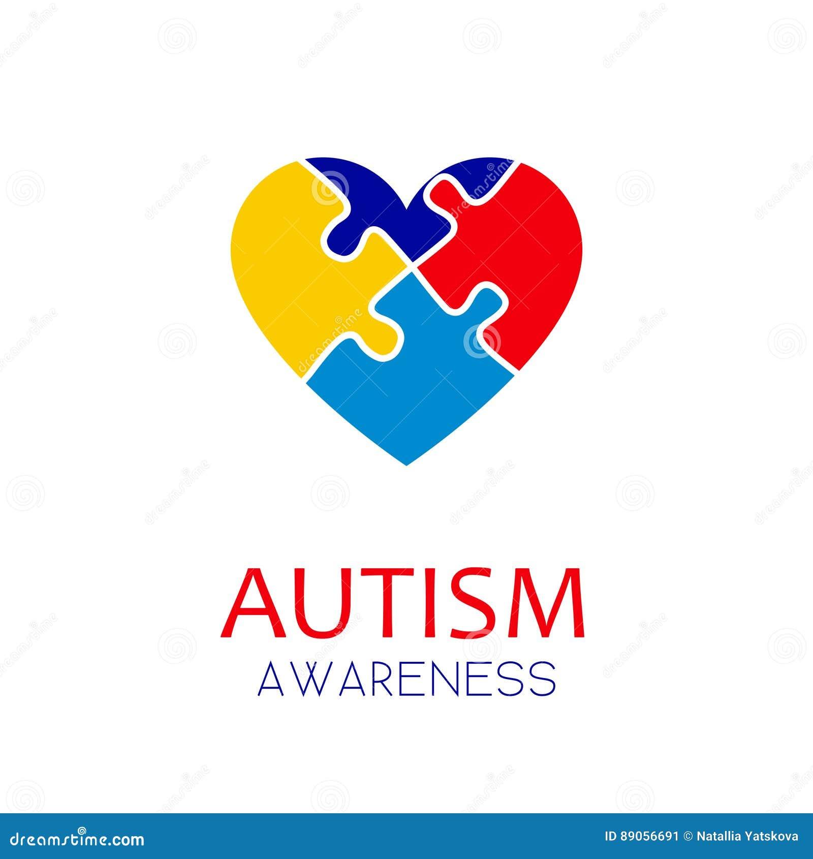 Autism Logo Cartoon Vector