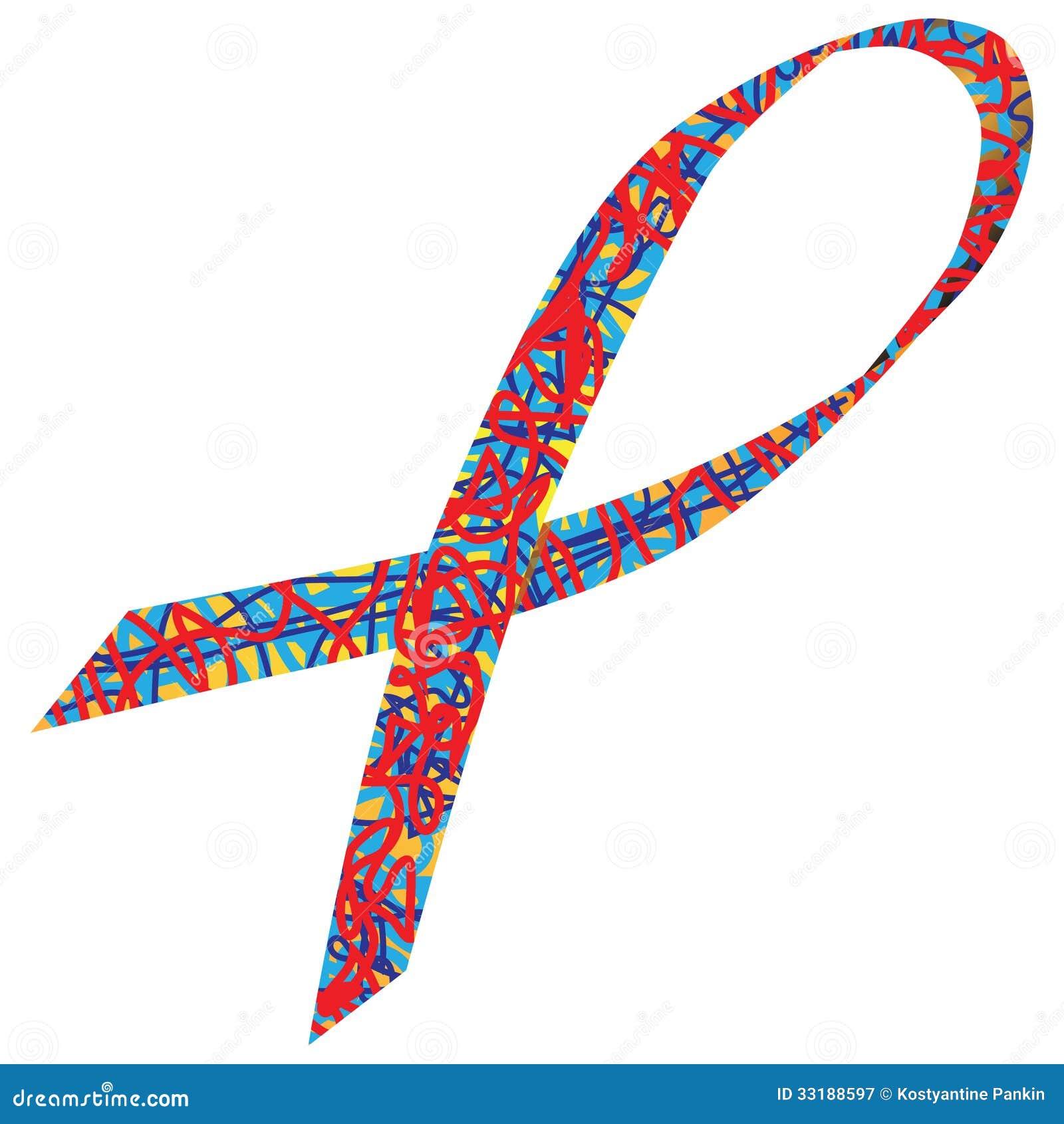 Autism awareness ribbon stock vector illustration of blue 33188597 autism awareness ribbon biocorpaavc
