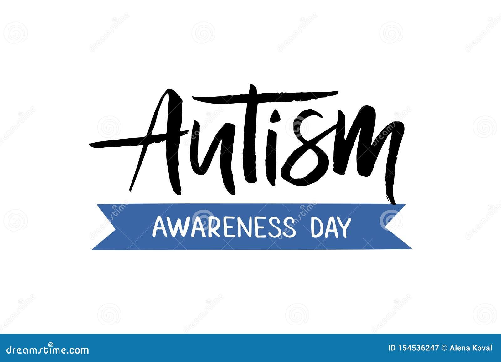 Autisme hand het getrokken van letters voorzien