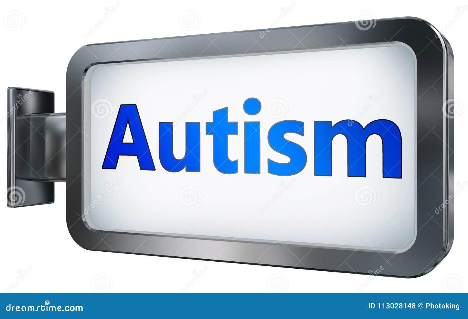 Autisme sur le fond de panneau d affichage
