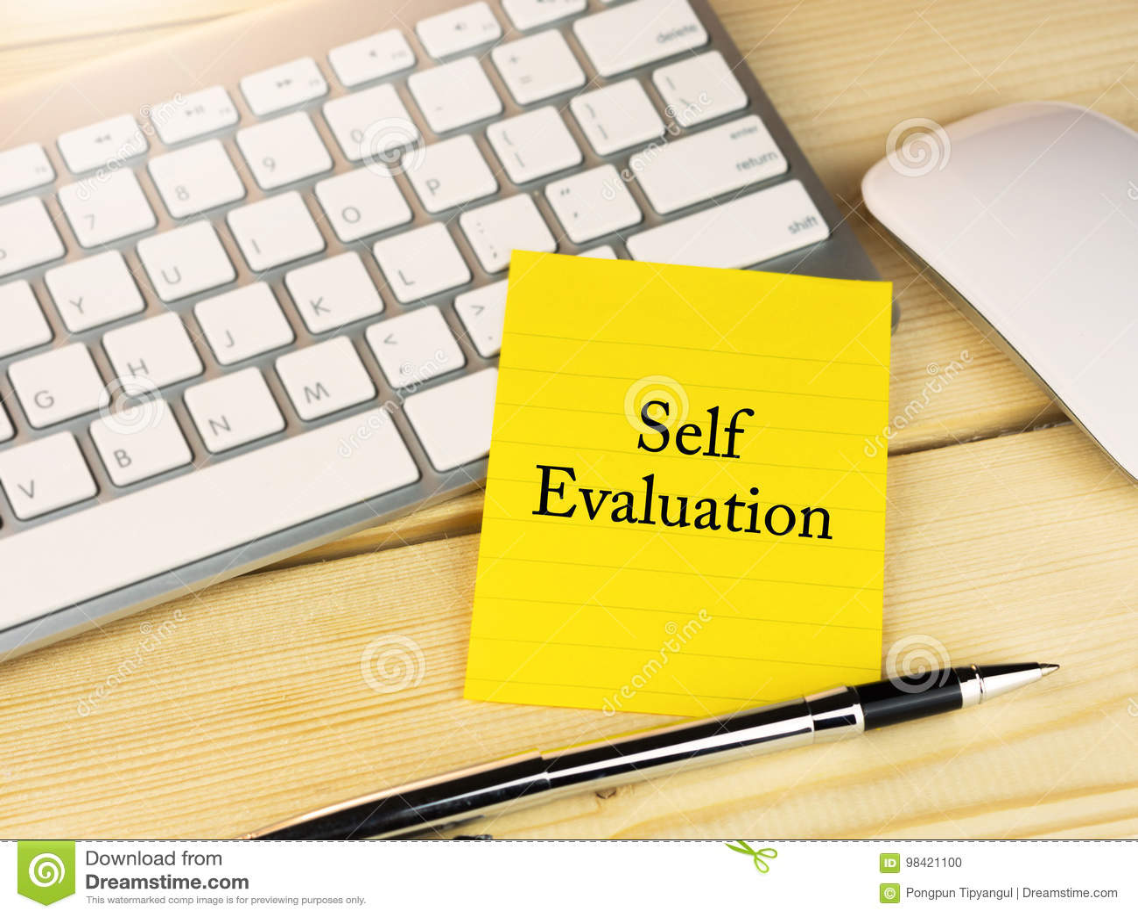 Auto-évaluation sur la note collante