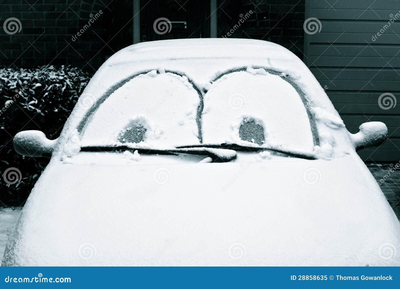 Auto abgedeckt im schnee stockbild bild von frost haupt 28858635 - Bed dat gelederen ...