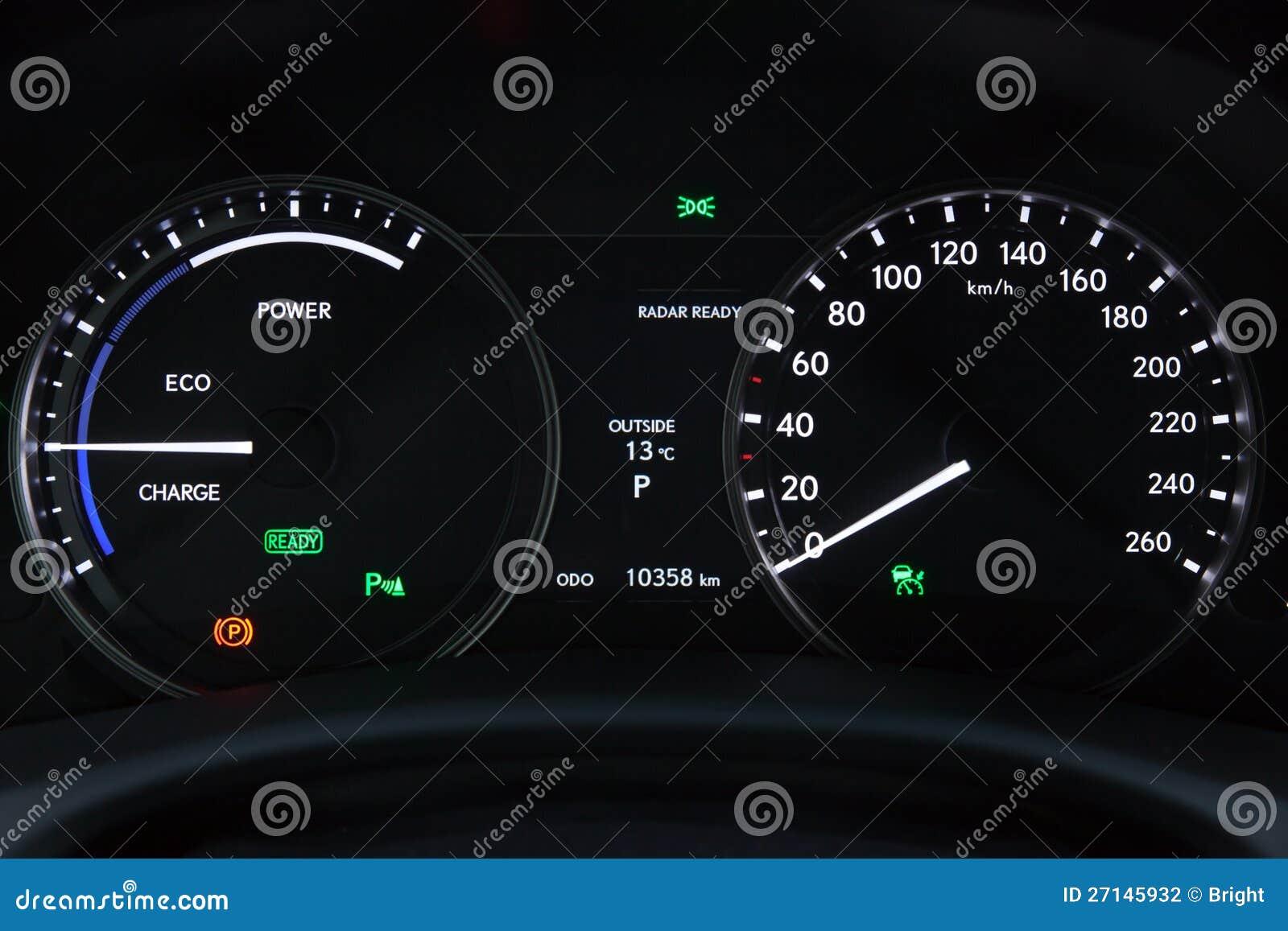 Auto anzeigetafel stockfoto bild von weiß temperatur
