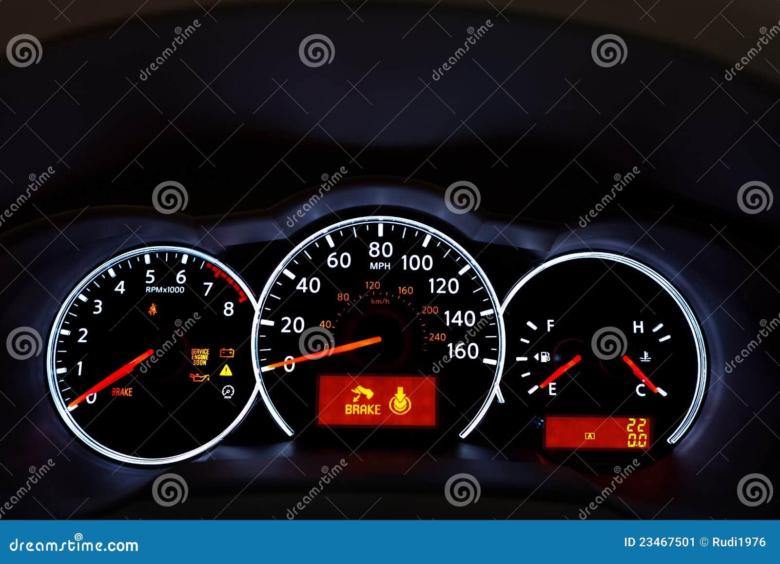 Armaturenbrett  Auto-Armaturenbrett stockbild. Bild von drehzahl, rückseite - 23467501