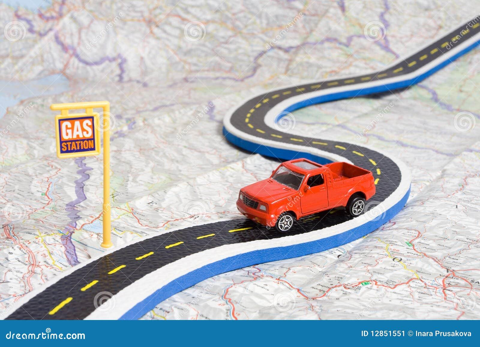 Auto auf Schaltplan