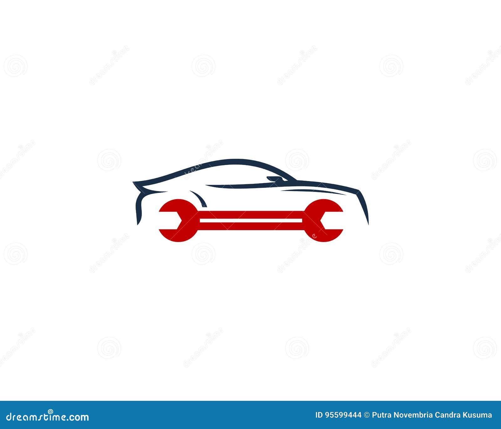 Auto Automoeilijke Situatie En Reparatiepictogram Logo Design