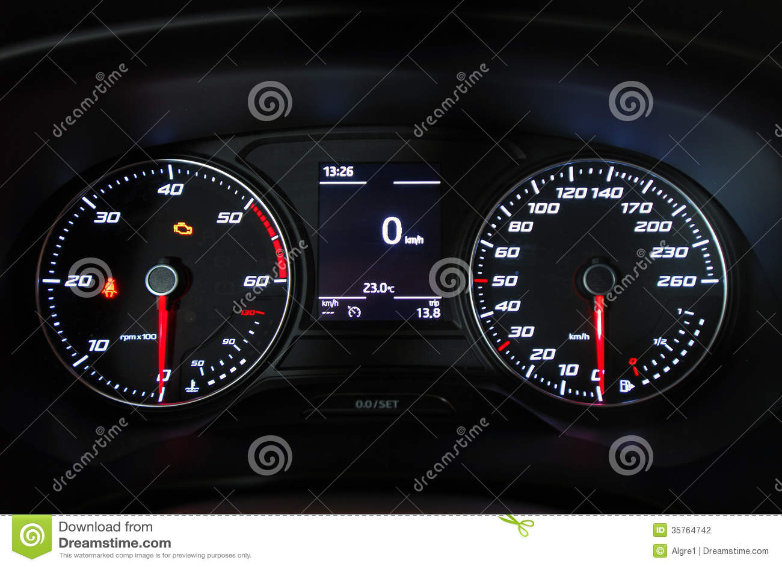 Armaturenbrett auto  Auto Belichteter Armaturenbrett Stockfotografie - Bild: 35764742