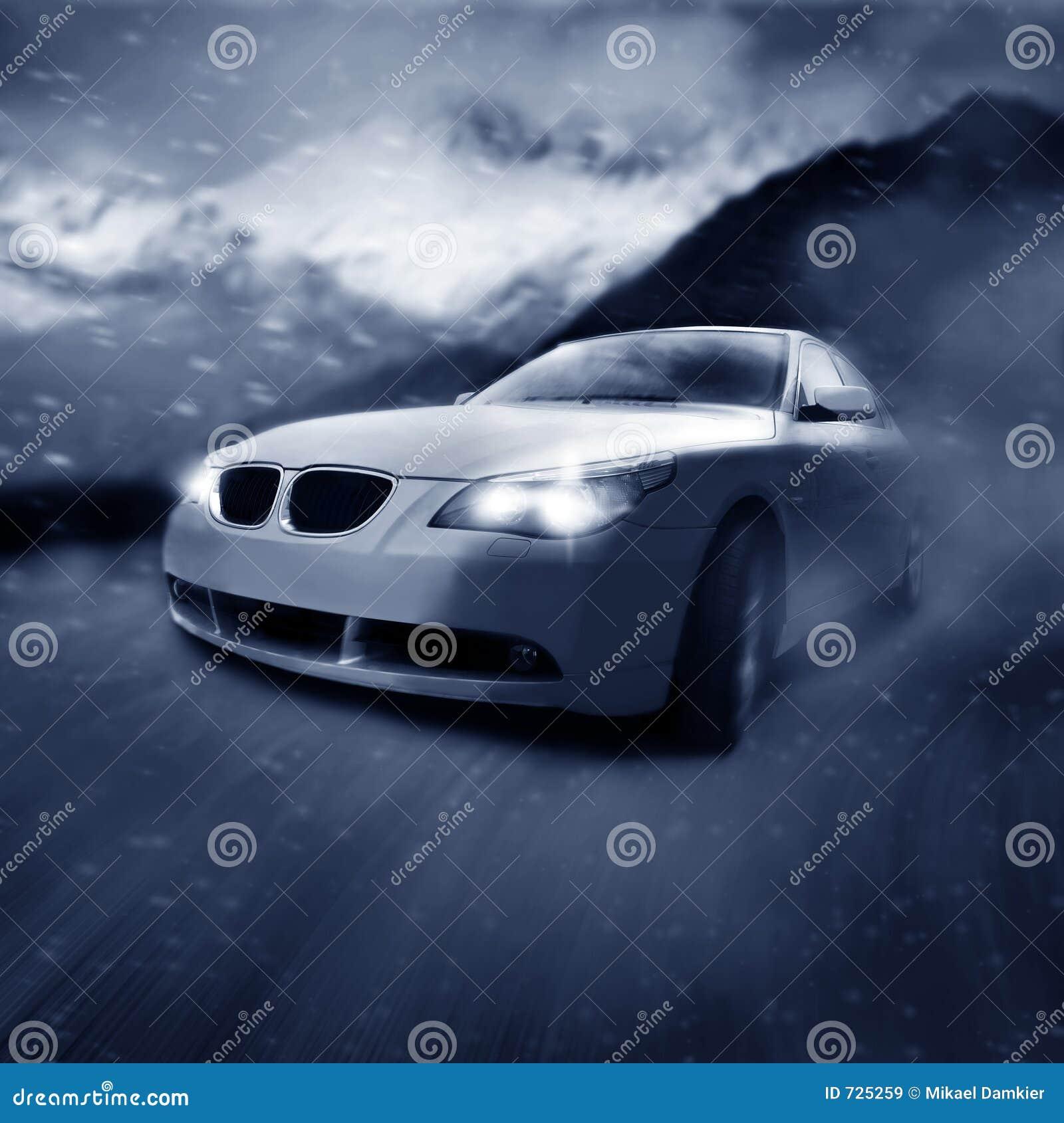 Auto in beweging