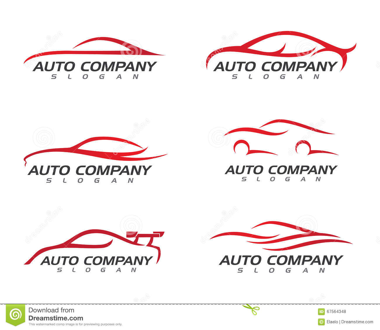 Auto Car Logo Template Stock Vector Image 67564348