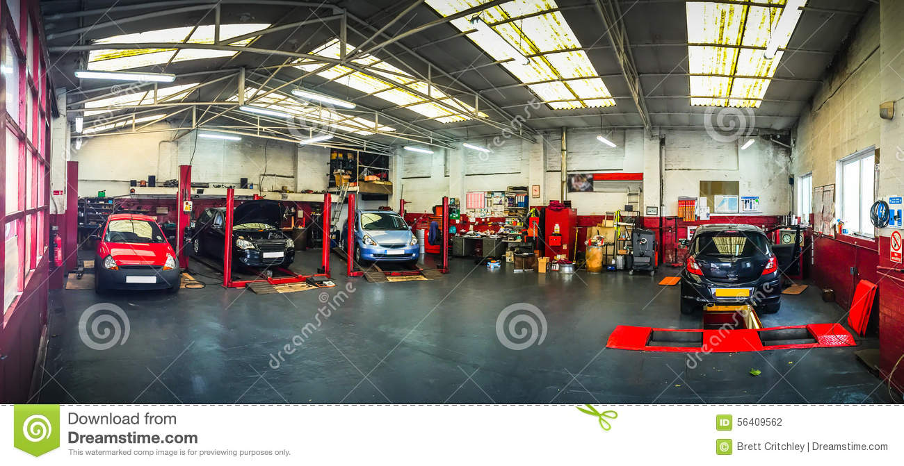 Auto Repair Garage Floor Plans: Auto Car Repair Shop Stock Photo. Image Of Ramps, Factory