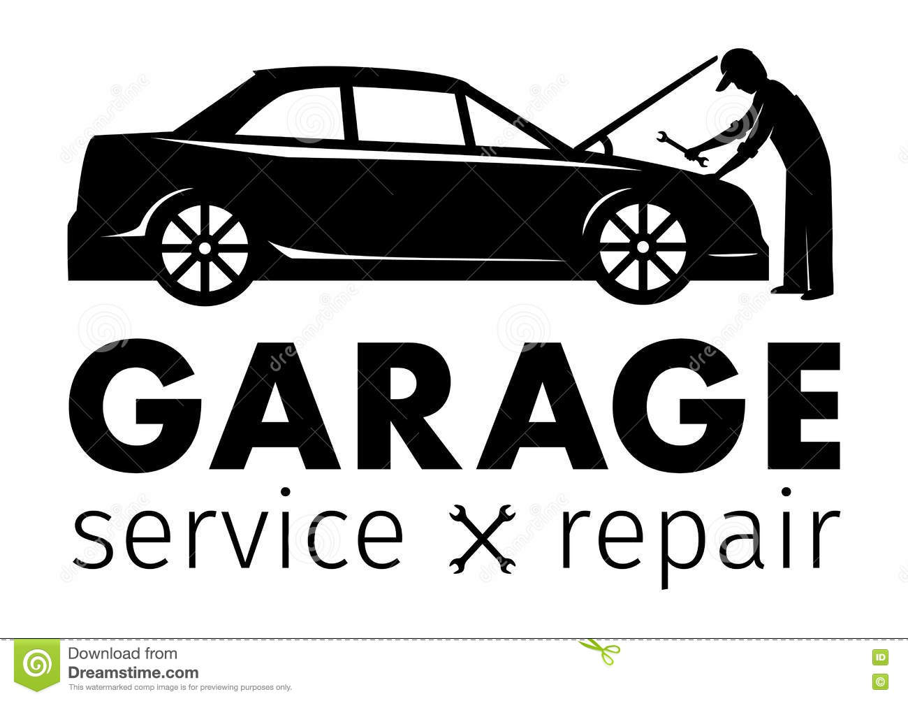 Service center logo cartoon vector for Garage reparation auto