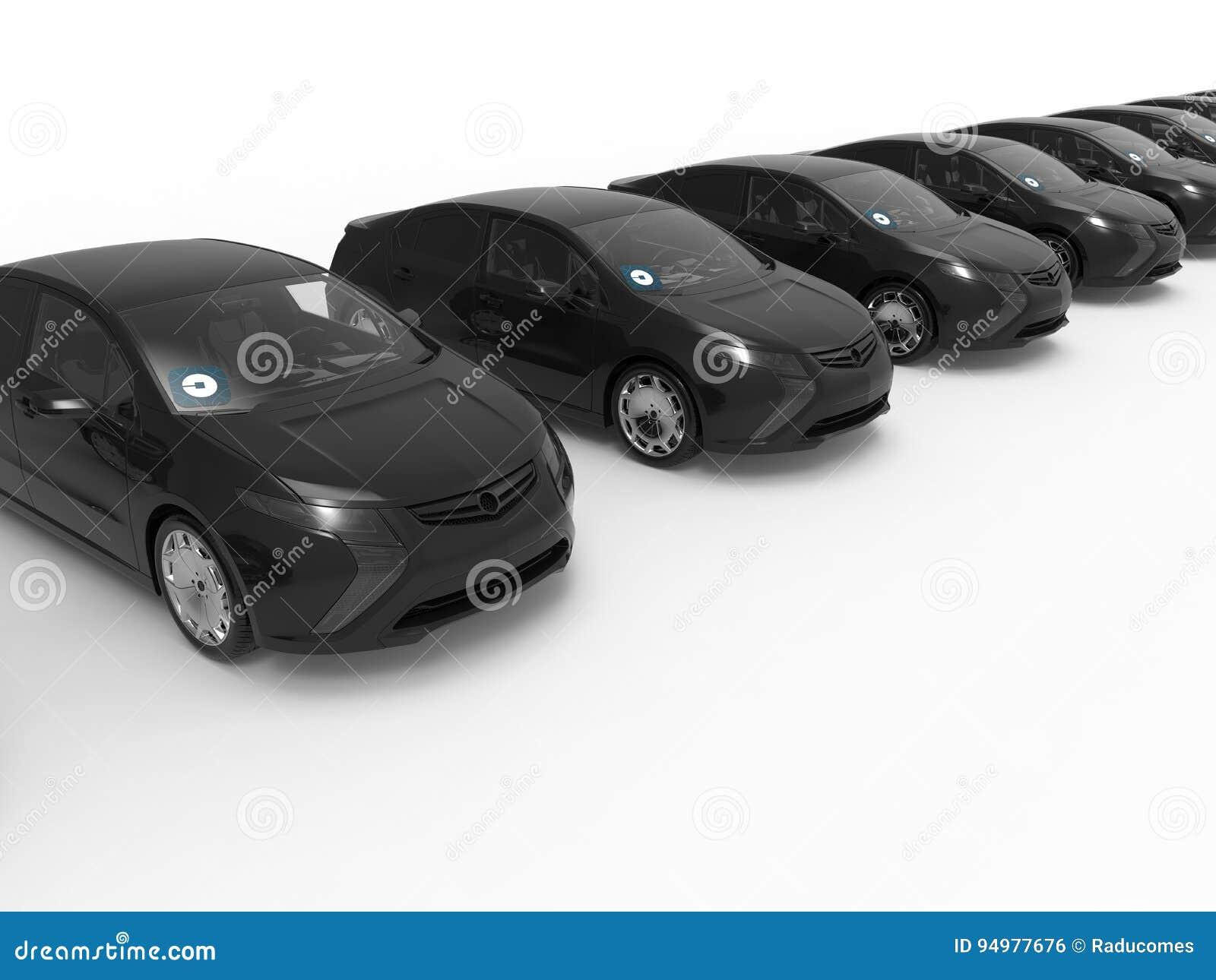 Auto de Uber que conduz o conceito da frota