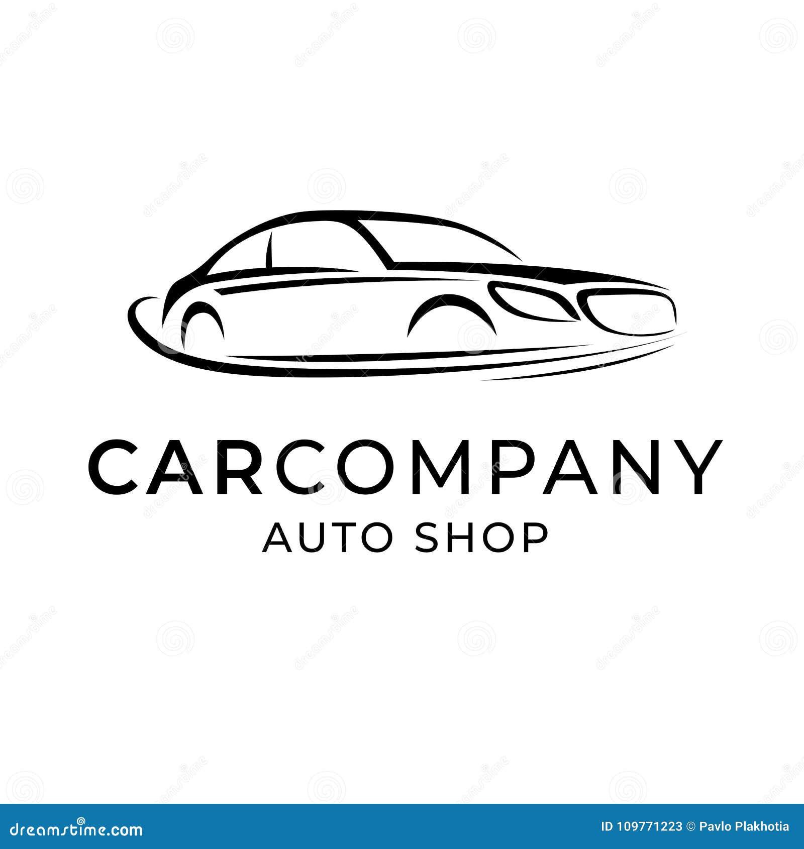 Auto Dealer Shop Template Emblem Creative Logo Design For Car