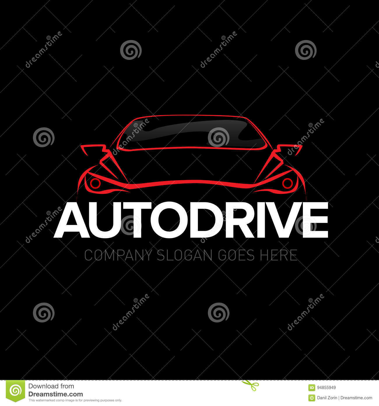 Auto Drive Car Logo Template Auto Cars Car Logo Speed Automotive