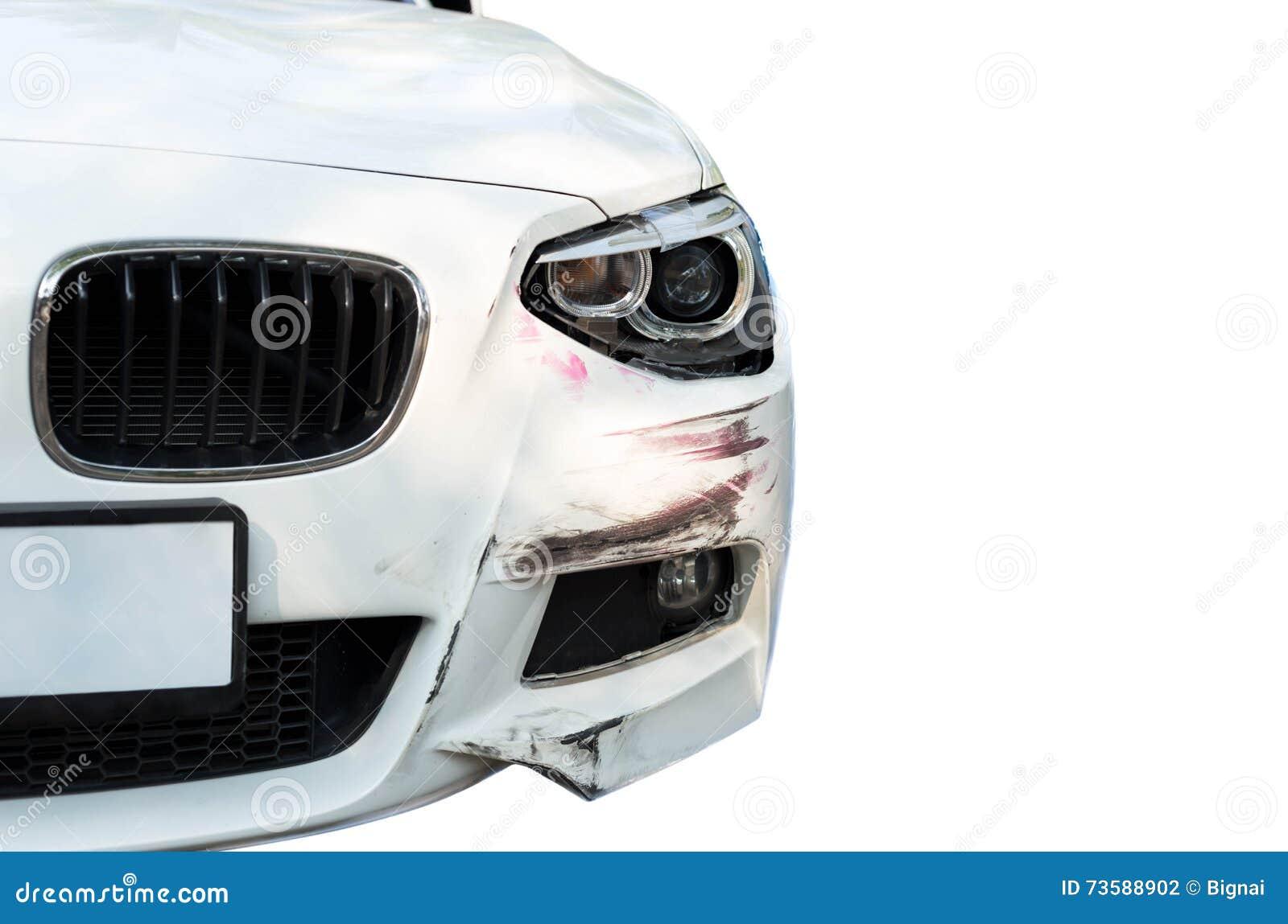 Lichte Schade Autos : Auto een ongeval met hoofd lichte schade stock foto afbeelding