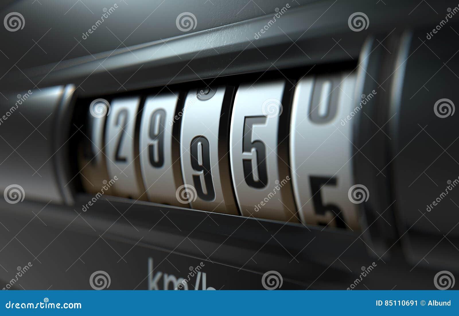 Auto entfernungsmesser hoch stock abbildung illustration von