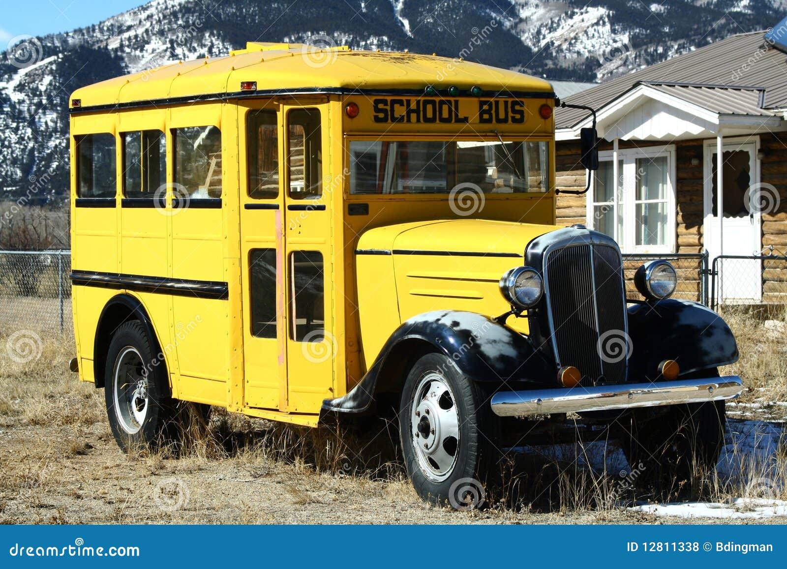 Auto escolar do vintage