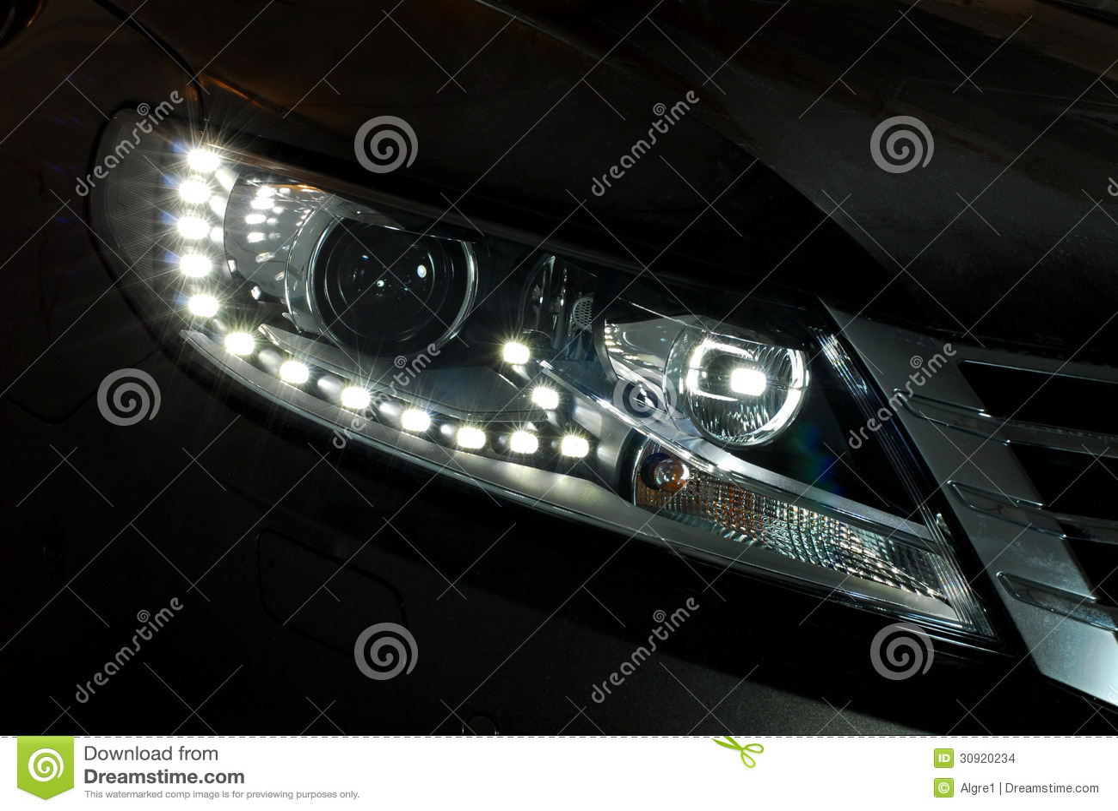 Auto geleide koplamp