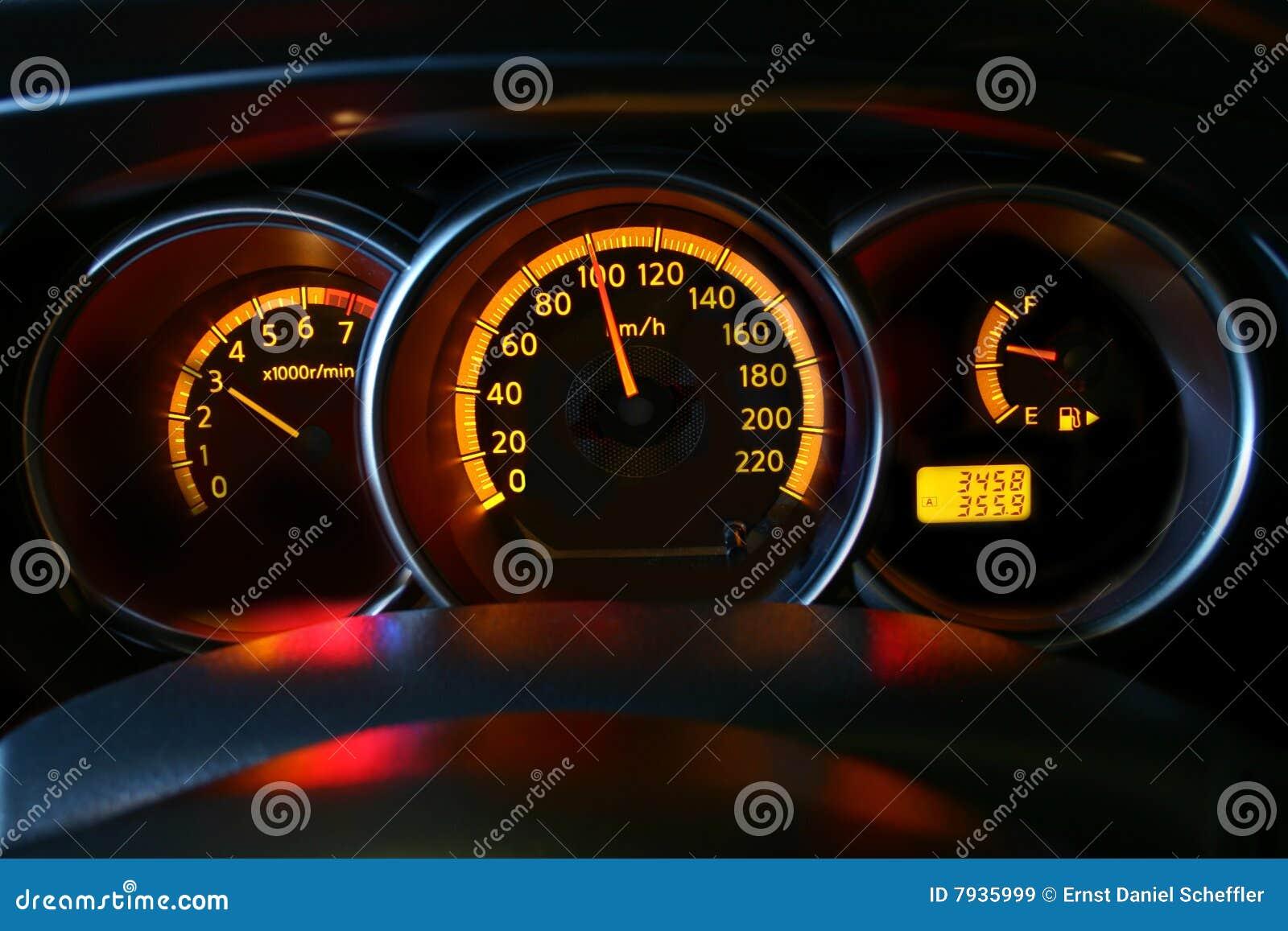 Auto geschwindigkeitsmesser stockbild bild von drehzahl