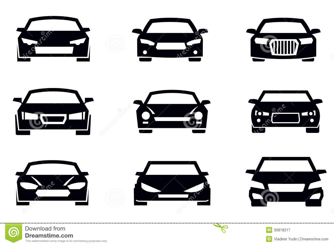 auto icons stock vector illustration of transportation 30818217. Black Bedroom Furniture Sets. Home Design Ideas