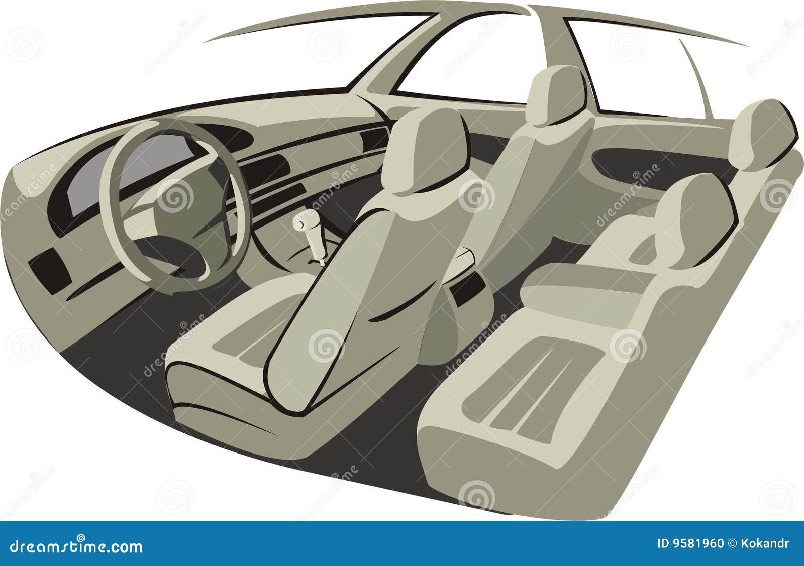 auto innen vektor abbildung illustration von spume w sche 9581960. Black Bedroom Furniture Sets. Home Design Ideas