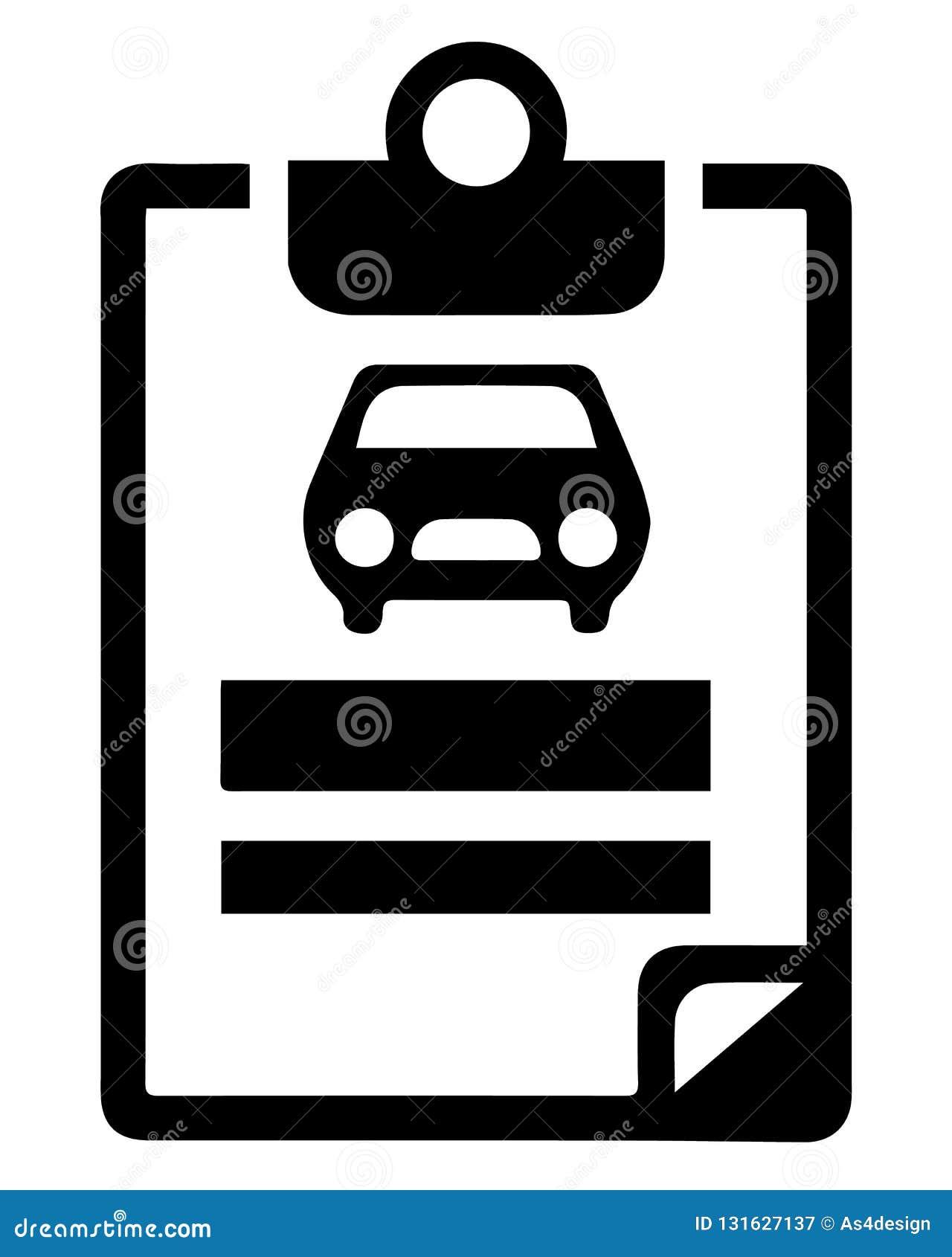 Auto Insurance Car Insurance Icon Stock Vector Illustration Of