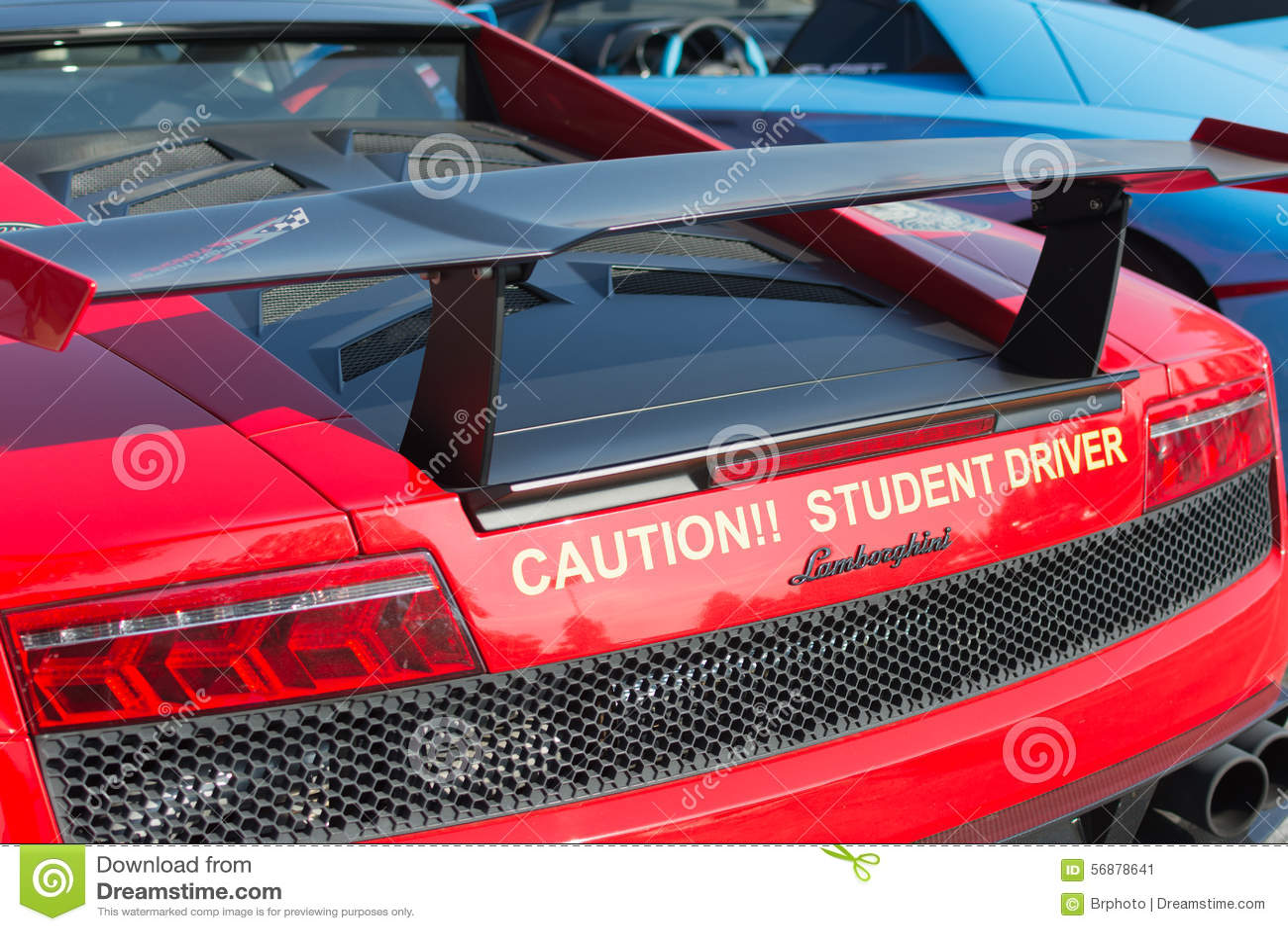 Auto Lamborghinis Gallardo auf Anzeige