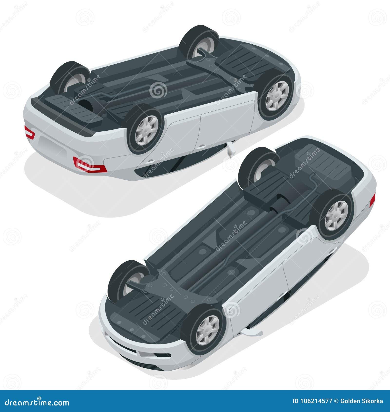 auto leicht geschlagen auto umgedreht nach unfall fahrzeug. Black Bedroom Furniture Sets. Home Design Ideas