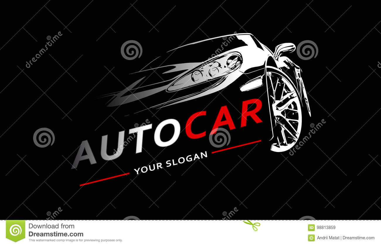 Auto Logo Abstract Lines Vector Vector Illustratie Vector